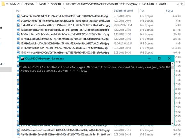 Windows 10 Kilit Ekranı Görüntüleri Nerede Depolanıyor ?