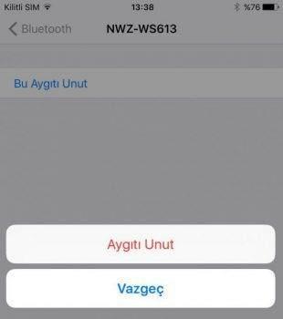 iOS 10 Bluetooth Çalışmama Sorunu ve Çözümü