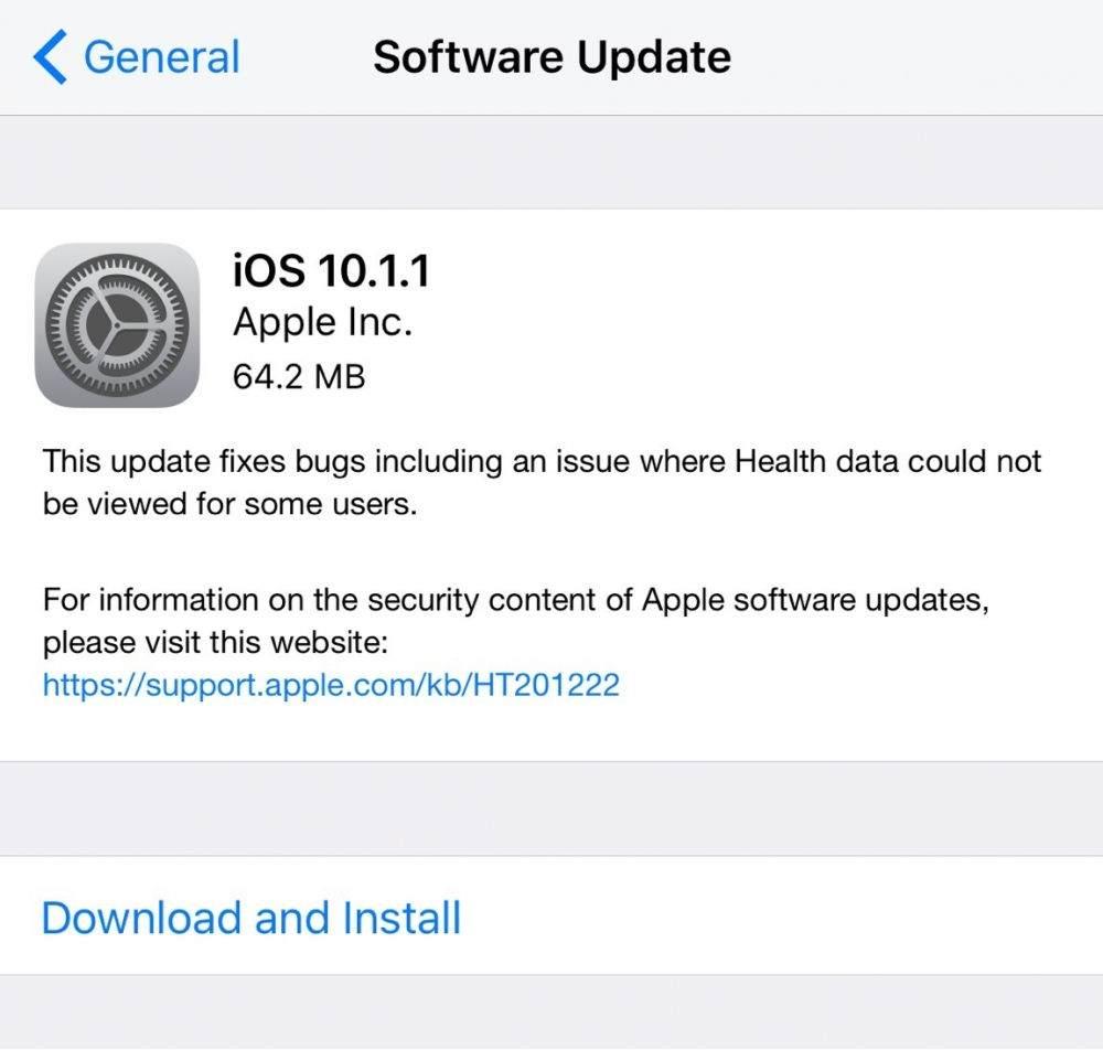 iOS 10.1.1 Güncellemesi Neler Sunuyor