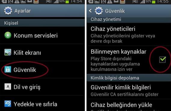 APK dosyası ile Android Uygulama Güncelleme