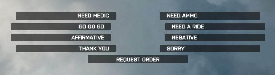 battlefield 1 voice commands