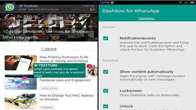 Dashdow: Sohbetleriniz Baloncuk Şeklinde Görünsün