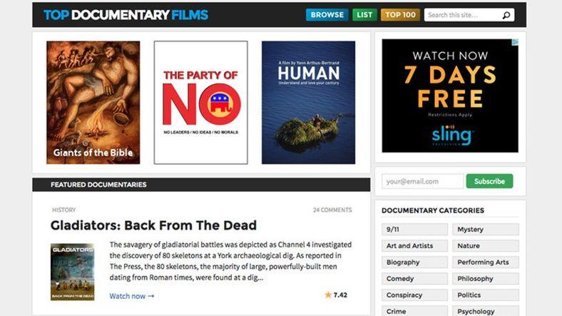 Yasal Olarak Film İzleyip İndirebileceğiniz 10 Site - Top Documentary Films