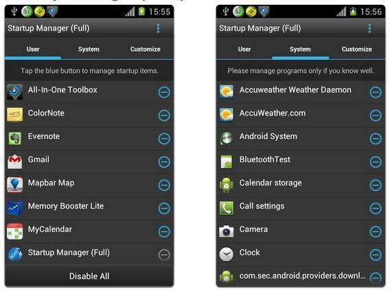 Android Performansını Arttıracak 5 Sistem Temizleme Uygulaması - startup-manager-android
