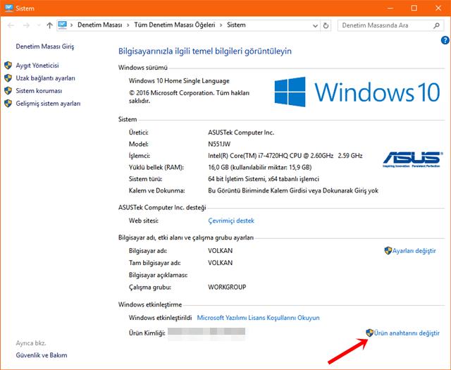 Windows 10 Ürün Anahtarını Değiştirmenin 5 Yolu
