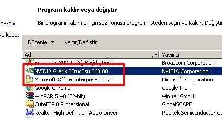 Windows'da Driver Nasıl Silinir ?