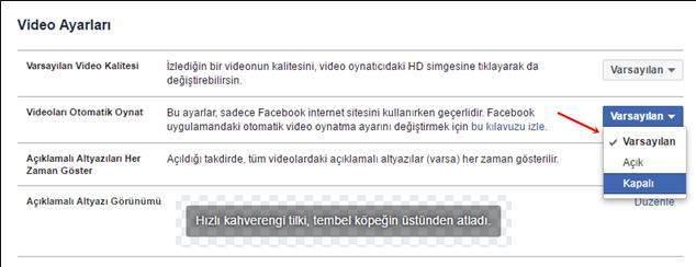 Facebook Otomatik Video Kapatma Nasıl Yapılır