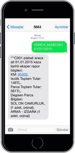 SMS ile Araç Hasar Geçmişi Nasıl Sorgulanır ?