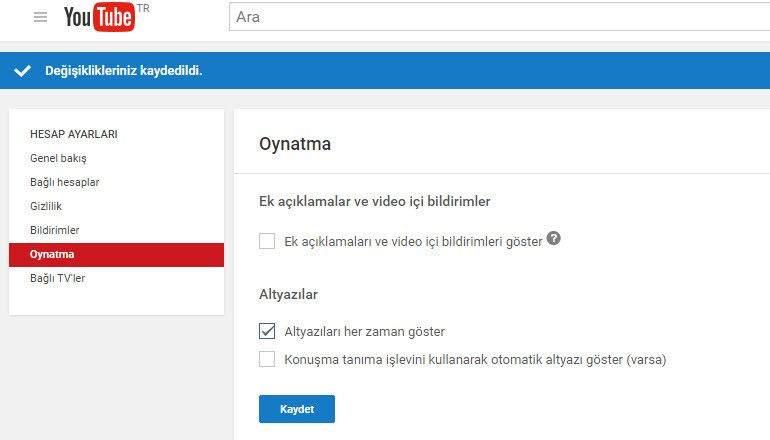 YouTube Ek Açıklamaları Kapatma Nasıl Yapılır