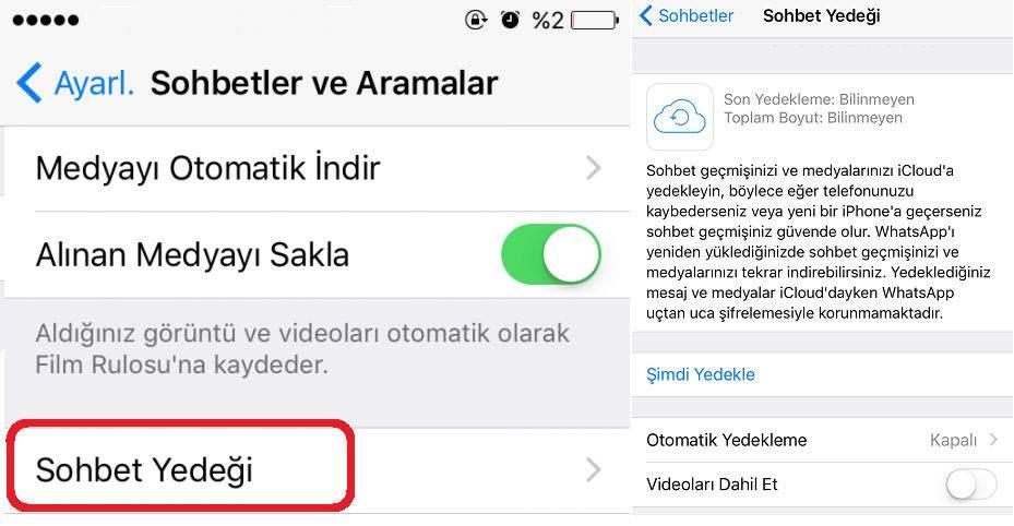 iPhone Whatsapp Sohbet Yedekleme ve Geri Yükleme Nasıl Yapılır ?