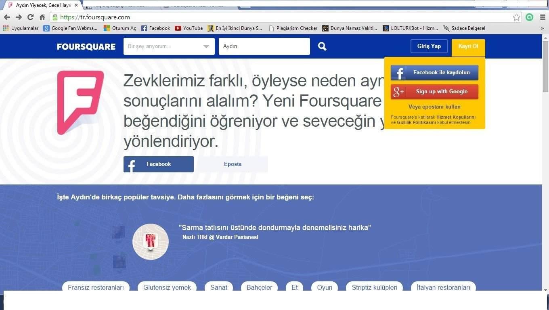 Foursquare Hesabı Nasıl Açılır? 1