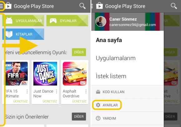 Google Play Store İçerik Filtresi Nasıl Yapılır