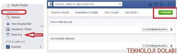Facebook'ta Grup Kurma 1
