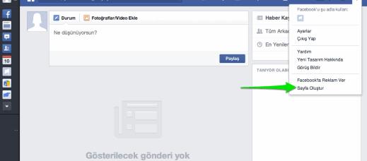 Facebook Sayfa Açma