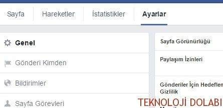 Facebook Sayfa Silme 1