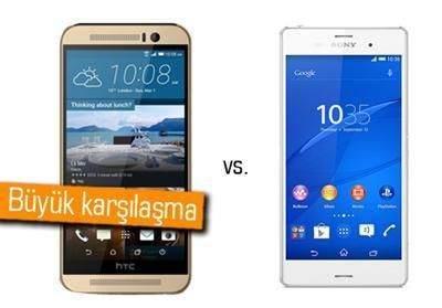 HTC One M9 ile Xperia Z3 karşı karşıya 1