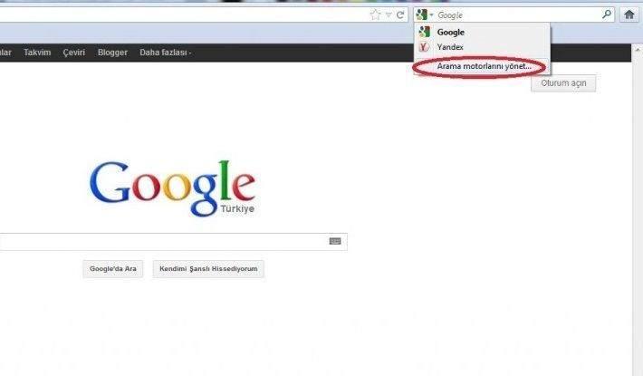 Mozilla Firefox'tan Yandex Ayarlarını Kaldırmak 1