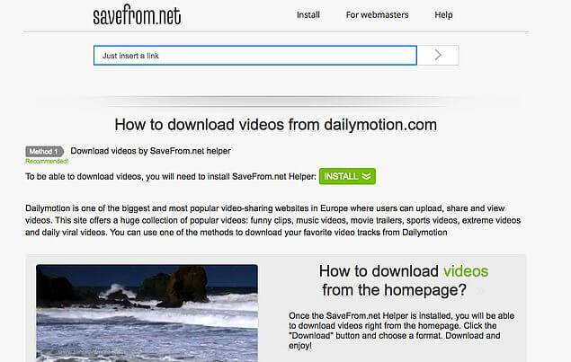 Dailymotiondan Programsız Video İndirme