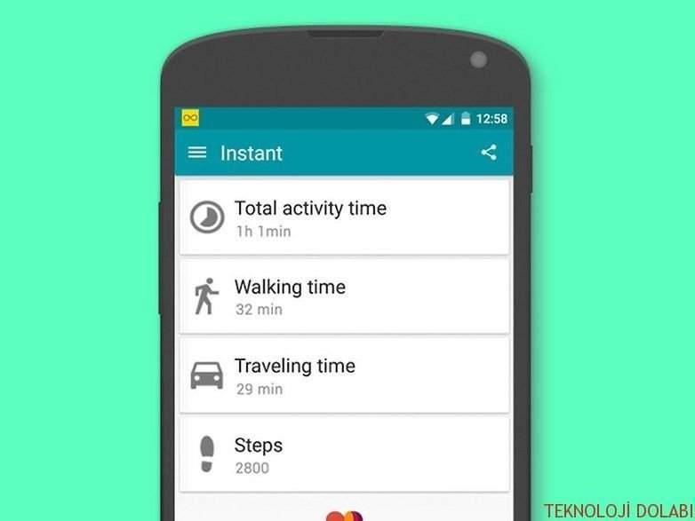 Telefonunuzda gerçekten ne yaptığınızı gösteren uygulama: Instant 1