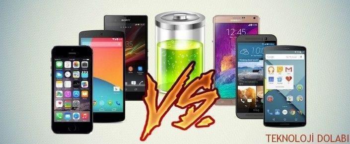 Üst Seviye Telefonların Batarya Süresi Karşılaştırması 1