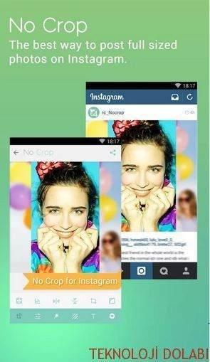 Instagram'da Tam Ekran Fotoğraf paylaşmak