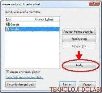 Mozilla Firefox'tan Yandex Nasıl Kaldırılır2