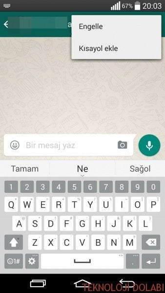 Whatsapp'ta Kişi Nasıl Engellenir