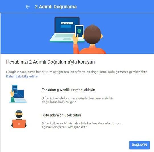 Google Hesabınızı Güvene Alın!