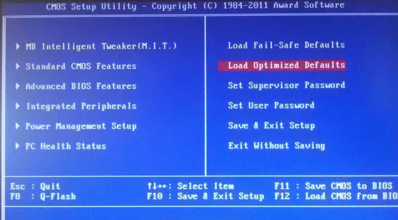 Default Boot Device Missing Or Boot Failed Çözümü