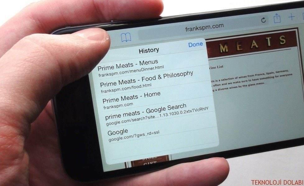iPhone'da Safari Önbelleğini Temizlemek