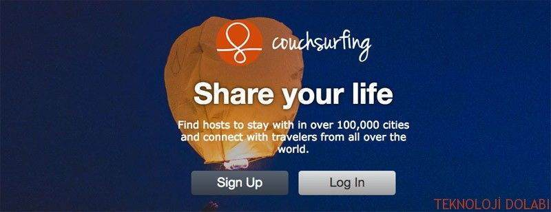 Couchsurfing hesabını silme resimli anlatım 1