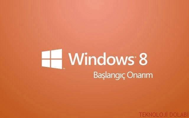 Windows 8 Onarma Resimli Anlatım 1