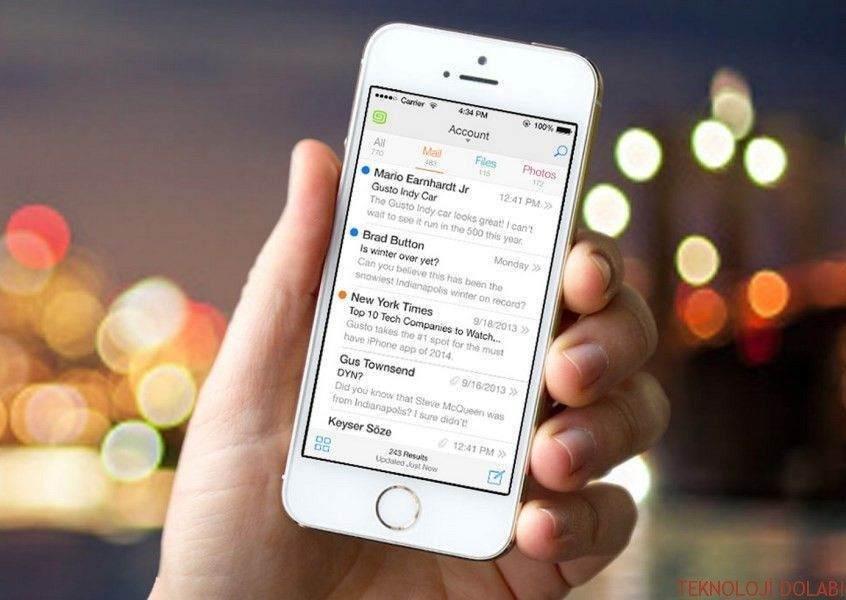 iPhone: E-Posta İmzasını Değiştirmek 1
