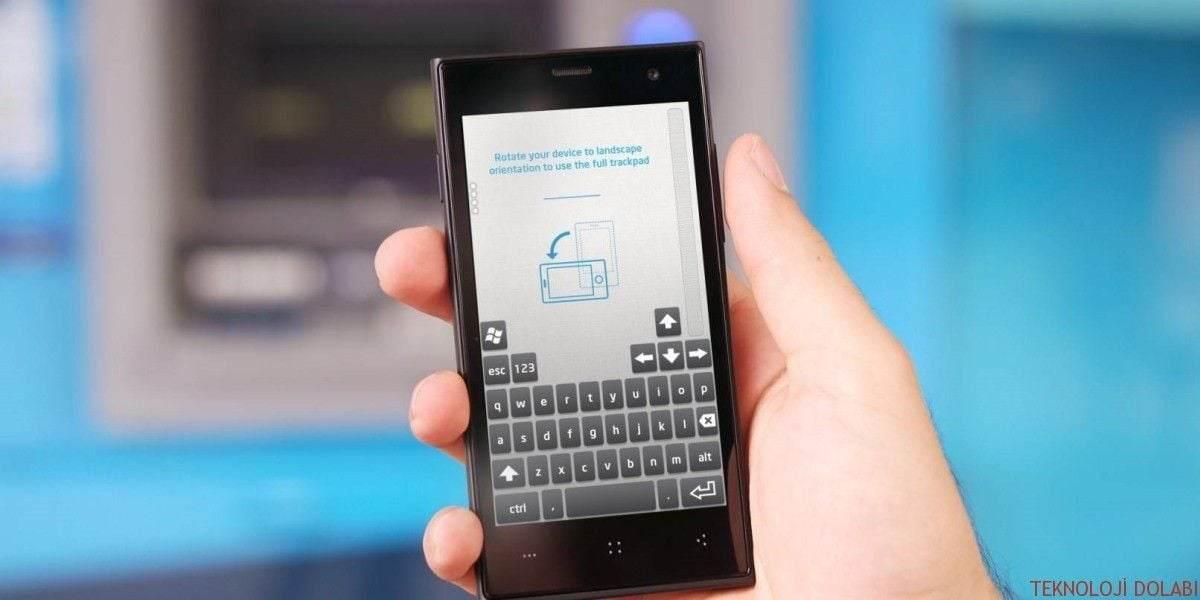 Android Telefonu Fare ve Klavye Olarak Kullanmak