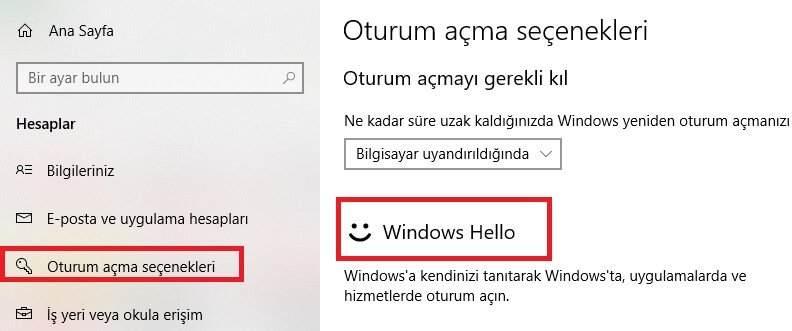 Windows Hello Yazılımı Nasıl Aktif Edilir ?