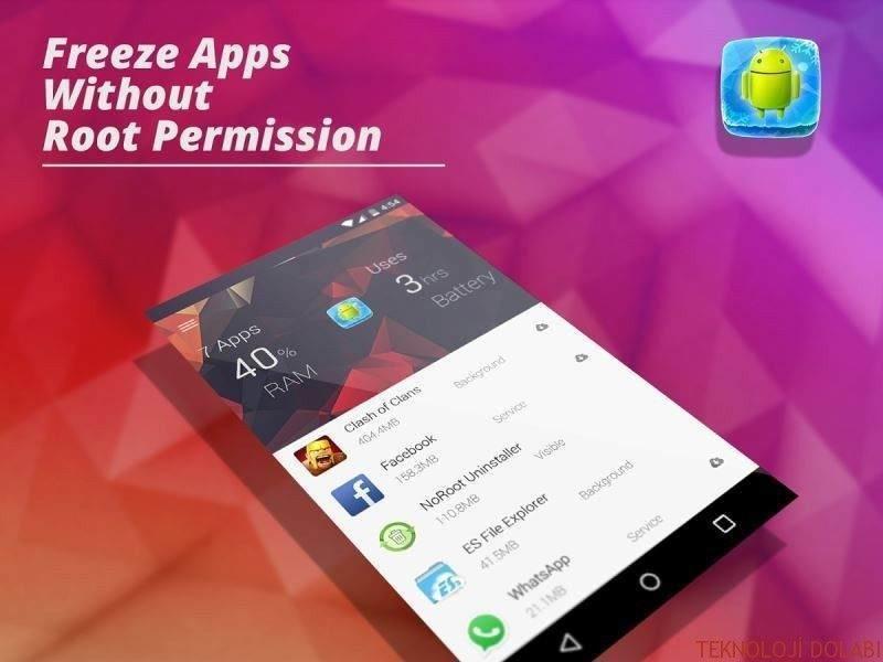 Android: Uygulamaları Dondurmak 1
