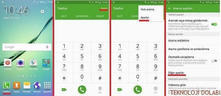 Galaxy S6 Edge arama bekletme özelliğini etkinleştirme