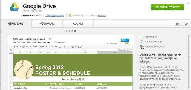Google Drive Offline Kullanma