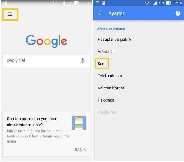 "Android ""Ok Google"" Sesli Komut Özelliğini Aktif Etme"