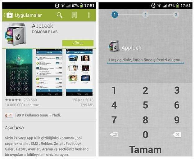 Android uygulamalarına nasıl şifre konulur1