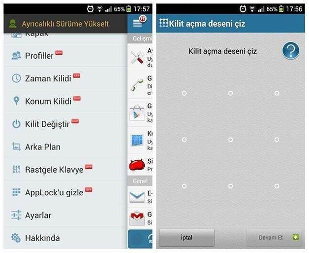Android uygulamalarına nasıl şifre konulur3