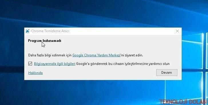 Google Chrome Temizleme Ve Sıfırlama Aracı ''Casus – Virüs'' 1
