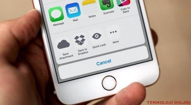 iPhone'da Mail Eklerini Kaydetme 1