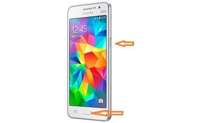Samsung Galaxy Grand Prime Ekran Görüntüsü Alma