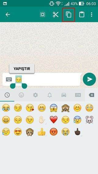 Android'de Kişilere Emoji Nasıl Eklenir?