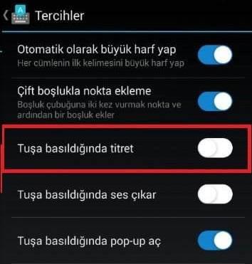 Android Telefonda Dokunmalı Geri Bildirim Nasıl Kapatılır?