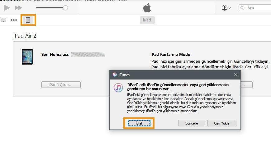 iTunes ile iOS Güncelleme, IPSW Dosyası Kurma ve Temiz Kurulum