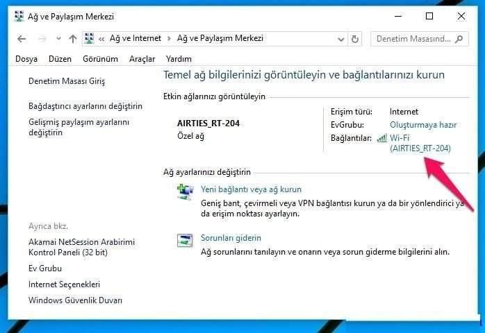 Windows 10'da WiFi Şifresi Nasıl Görüntülenir?