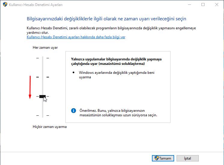 Windows 10'da Yönetici İzni Sorma Nasıl Kaldırılır?
