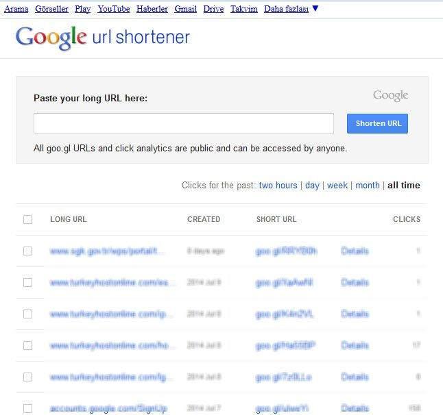 google-link-kısaltma